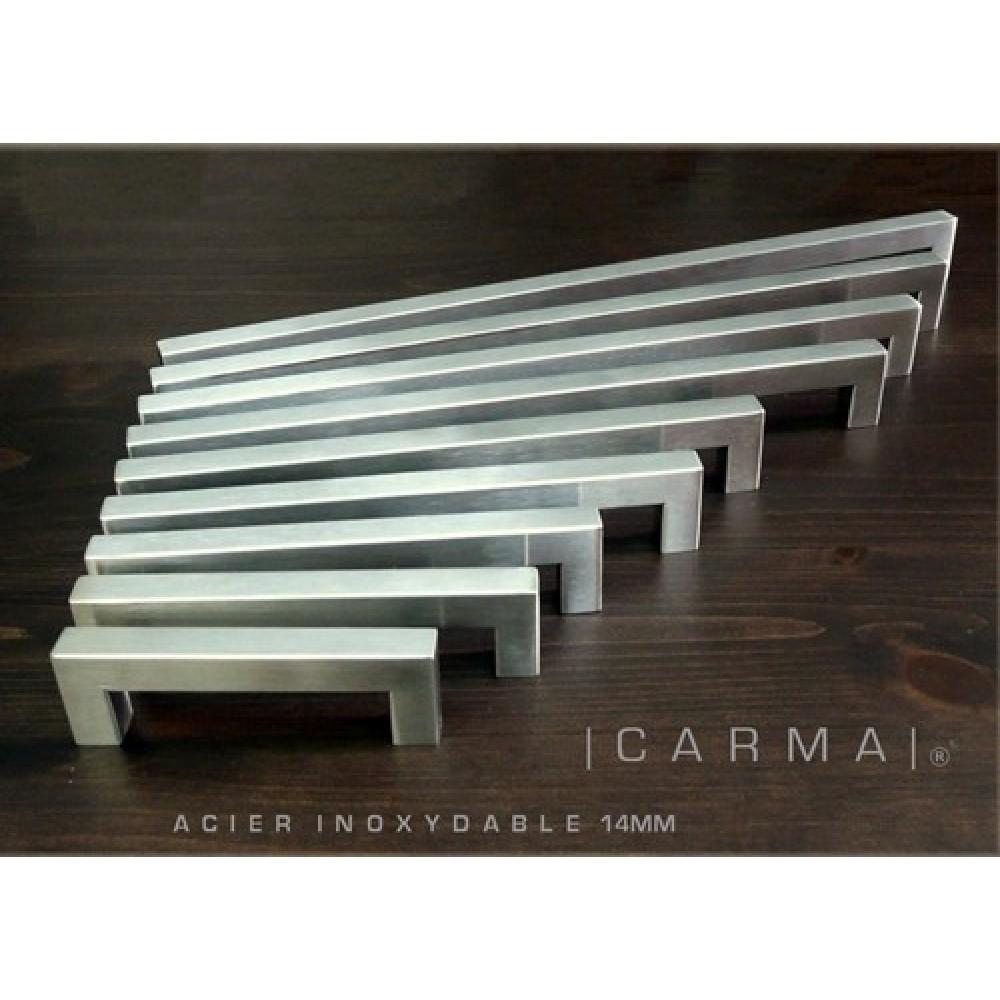 poignee armoire 14mm carree inox 192. Black Bedroom Furniture Sets. Home Design Ideas