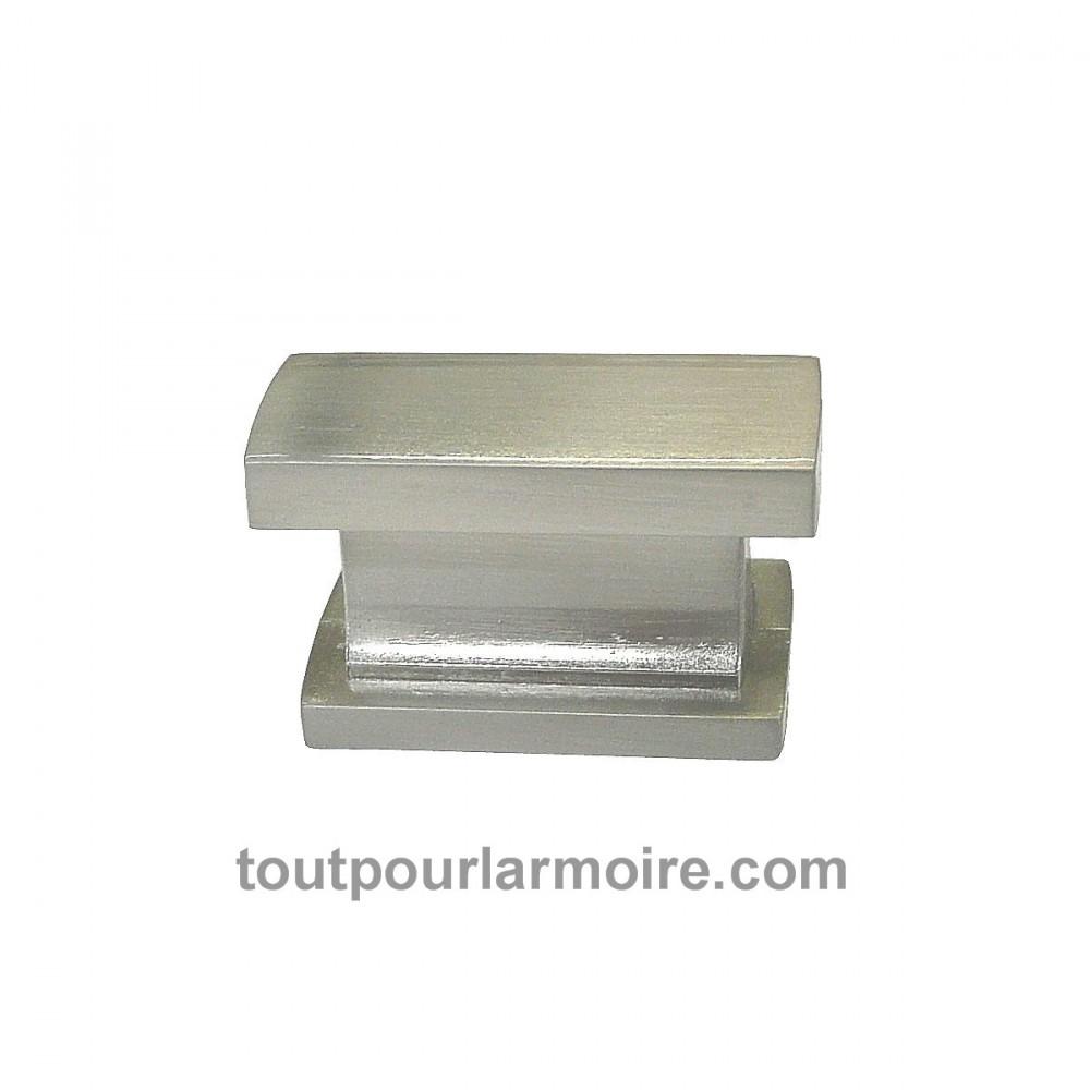 Bouton armoire cuisine meuble signature nickel brosse - Bouton de porte meuble salle de bain ...