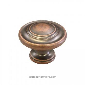 bouton armoire cuivre antique. Black Bedroom Furniture Sets. Home Design Ideas