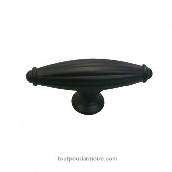 bouton armoire noir satine 3. Black Bedroom Furniture Sets. Home Design Ideas