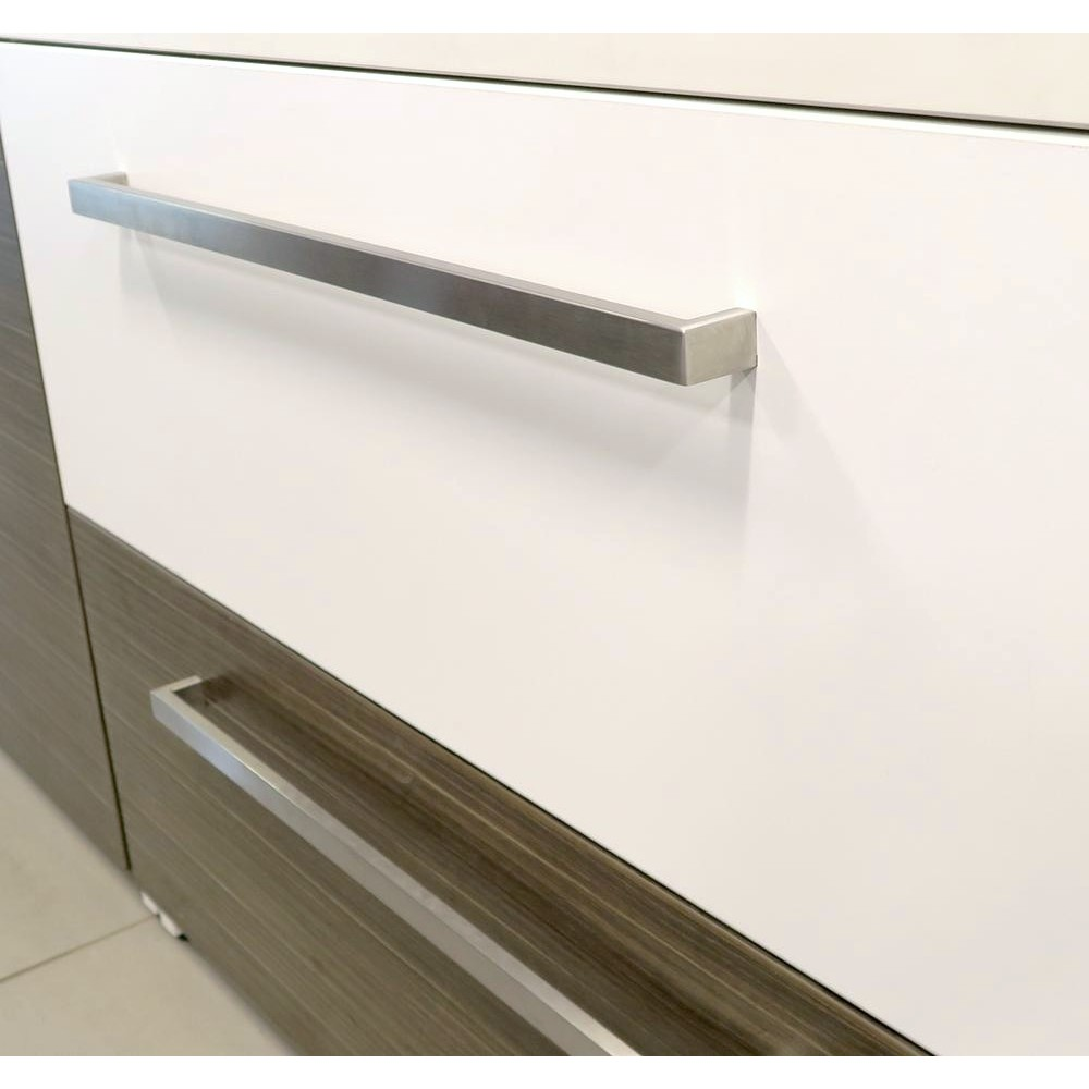 Poign e acier inoxydable 20mm rectangle armoires cuisines for Armoire cuisine inox