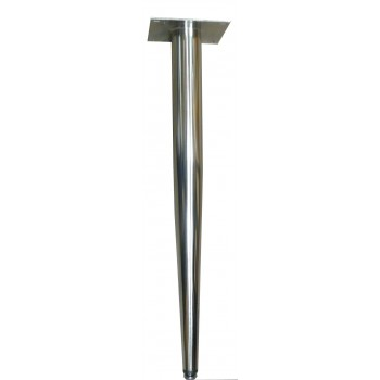Patte en Métal Nickel Brossé 28""