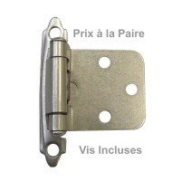Pentures Surface Nickel Brossé (Paire)