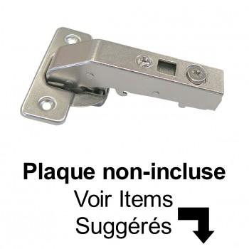 Penture à Fermeture Douce Coin Mort Sans Goujons (À Visser)