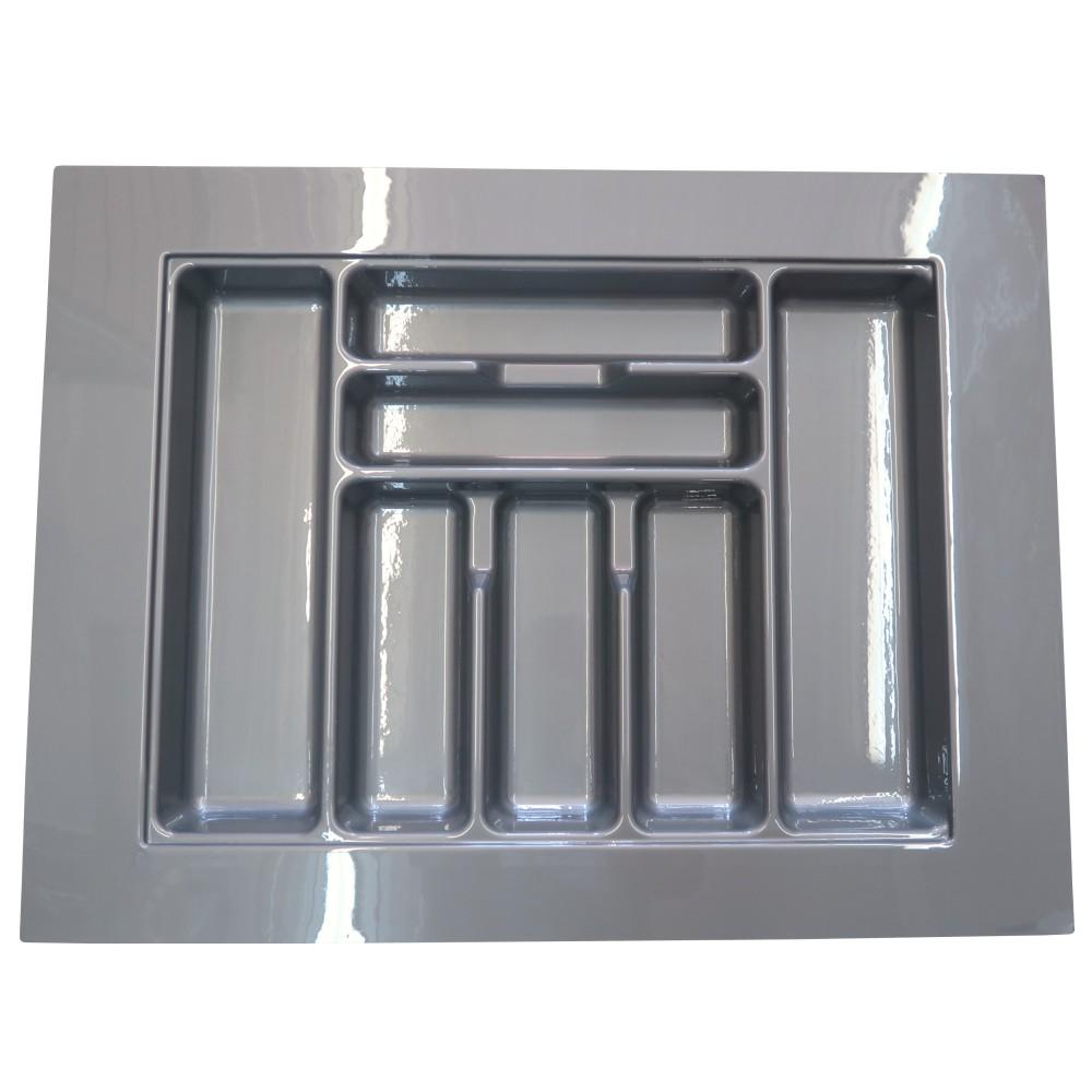 diviseur ustensile pour grand tiroir rangement armoire cuisine abs gris lustr 28. Black Bedroom Furniture Sets. Home Design Ideas
