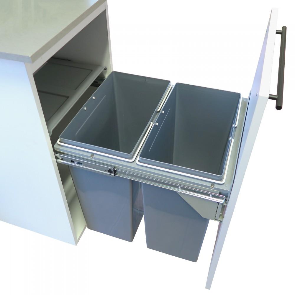 Meuble Cache Poubelle Interieur poubelle non-autoportante style euro cargo rangements