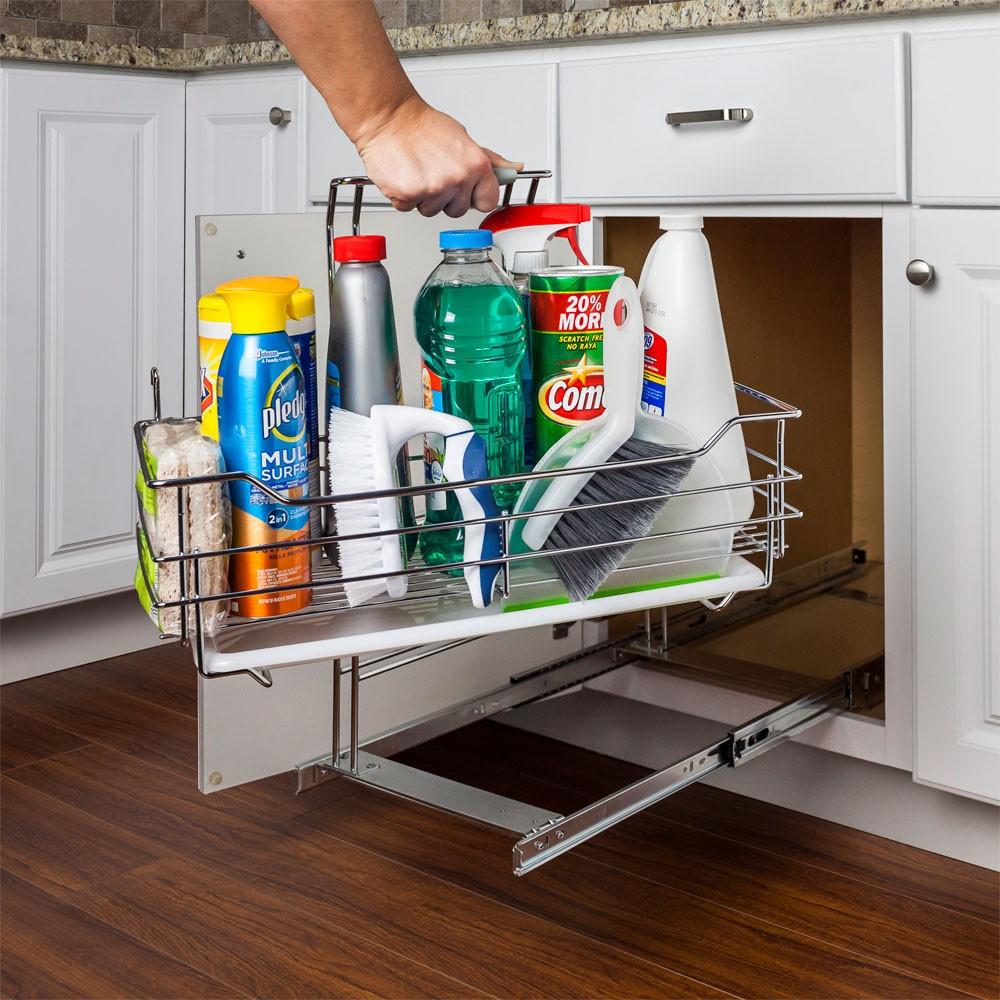 rangement coulissant amovible produit nettoyage cuisine armoire tiroir. Black Bedroom Furniture Sets. Home Design Ideas
