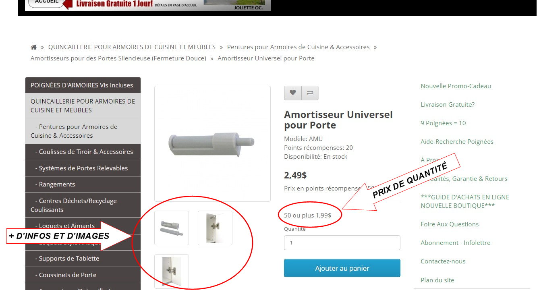 Quincaillerie armoires de cuisine meubles prix de gros for Projet cuisine en ligne